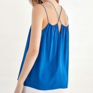 NWT Massimo Dutti XL Strappy Loose Blue Tank Top